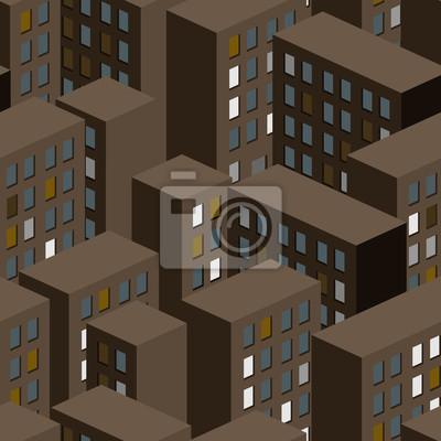 Пейзаж современный городской Ночной город бесшовный фон. Фоне городских зданий. ВектоПейзаж современный городской<br>Репродукция на холсте или бумаге. Любого нужного вам размера. В раме или без. Подвес в комплекте. Трехслойная надежная упаковка. Доставим в любую точку России. Вам осталось только повесить картину на стену!<br>