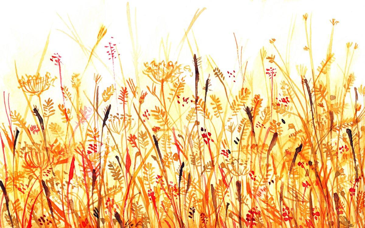 Цветы в современной живописи, картина Очер заросли травы, абстрактный фонЦветы в современной живописи<br>Репродукция на холсте или бумаге. Любого нужного вам размера. В раме или без. Подвес в комплекте. Трехслойная надежная упаковка. Доставим в любую точку России. Вам осталось только повесить картину на стену!<br>