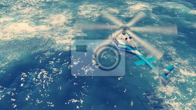 Спасательный вертолет летит над бурной поверхности океана, 36x20 см, на бумагеВертолеты<br>Постер на холсте или бумаге. Любого нужного вам размера. В раме или без. Подвес в комплекте. Трехслойная надежная упаковка. Доставим в любую точку России. Вам осталось только повесить картину на стену!<br>