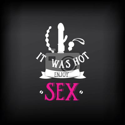 Постер-картина Мотивационный плакат Секс шоп логотип и значок дизайн.Мотивационный плакат<br>Постер на холсте или бумаге. Любого нужного вам размера. В раме или без. Подвес в комплекте. Трехслойная надежная упаковка. Доставим в любую точку России. Вам осталось только повесить картину на стену!<br>