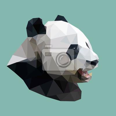 Постер-картина Полигональный арт Многоугольная панда, многоугольник абстрактный геометрический животное, вектор иллПолигональный арт<br>Постер на холсте или бумаге. Любого нужного вам размера. В раме или без. Подвес в комплекте. Трехслойная надежная упаковка. Доставим в любую точку России. Вам осталось только повесить картину на стену!<br>