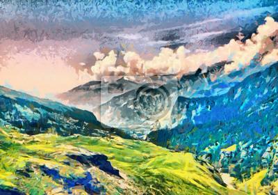 Пейзажи Постер 90197735, 29x20 см, на бумагеПейзаж горный в современной живописи<br>Постер на холсте или бумаге. Любого нужного вам размера. В раме или без. Подвес в комплекте. Трехслойная надежная упаковка. Доставим в любую точку России. Вам осталось только повесить картину на стену!<br>