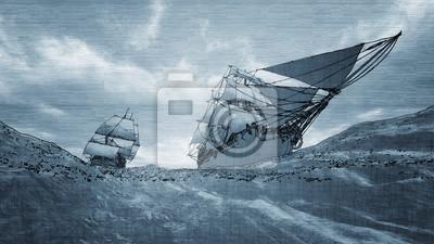 Пейзаж современный морской Две яхты парусный спортПейзаж современный морской<br>Репродукция на холсте или бумаге. Любого нужного вам размера. В раме или без. Подвес в комплекте. Трехслойная надежная упаковка. Доставим в любую точку России. Вам осталось только повесить картину на стену!<br>