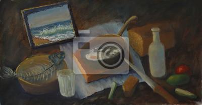 Натюрморт в современной живописи, картина Постер 90574979, 38x20 см, на бумагеНатюрморт в современной живописи<br>Постер на холсте или бумаге. Любого нужного вам размера. В раме или без. Подвес в комплекте. Трехслойная надежная упаковка. Доставим в любую точку России. Вам осталось только повесить картину на стену!<br>
