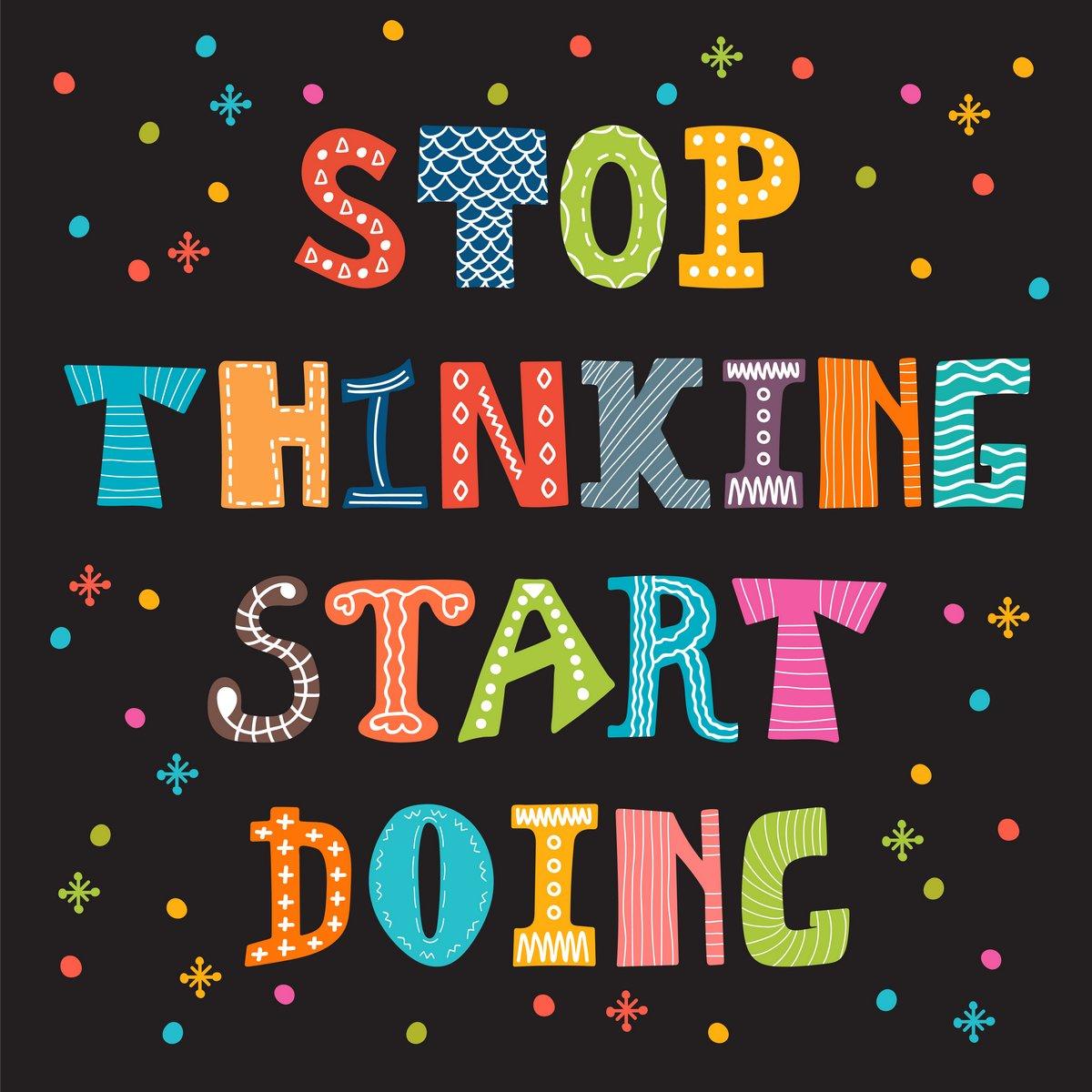 Постер-картина Мотивационный плакат Перестать думать, начать делать. Вдохновляющие цитаты. Мотивационные вырезатьМотивационный плакат<br>Постер на холсте или бумаге. Любого нужного вам размера. В раме или без. Подвес в комплекте. Трехслойная надежная упаковка. Доставим в любую точку России. Вам осталось только повесить картину на стену!<br>