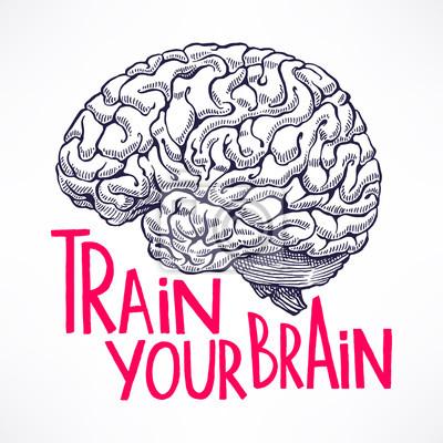 Постер-картина Мотивационный плакат Тренируйте мозгМотивационный плакат<br>Постер на холсте или бумаге. Любого нужного вам размера. В раме или без. Подвес в комплекте. Трехслойная надежная упаковка. Доставим в любую точку России. Вам осталось только повесить картину на стену!<br>