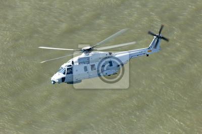 Постер-картина Вертолеты Поиск и спасательный вертолет над водойВертолеты<br>Постер на холсте или бумаге. Любого нужного вам размера. В раме или без. Подвес в комплекте. Трехслойная надежная упаковка. Доставим в любую точку России. Вам осталось только повесить картину на стену!<br>