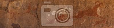Постер Petroglifi preistorici дель deserto дель сахара libico Наскальные рисунки<br>Постер на холсте или бумаге. Любого нужного вам размера. В раме или без. Подвес в комплекте. Трехслойная надежная упаковка. Доставим в любую точку России. Вам осталось только повесить картину на стену!<br>