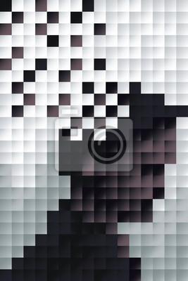 Постер-картина Пиксель-арт Человек профильПиксель-арт<br>Постер на холсте или бумаге. Любого нужного вам размера. В раме или без. Подвес в комплекте. Трехслойная надежная упаковка. Доставим в любую точку России. Вам осталось только повесить картину на стену!<br>