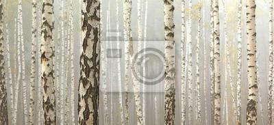Постер Туман Рощи берез и сухой травы в начале осени, осень панорамаТуман<br>Постер на холсте или бумаге. Любого нужного вам размера. В раме или без. Подвес в комплекте. Трехслойная надежная упаковка. Доставим в любую точку России. Вам осталось только повесить картину на стену!<br>