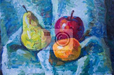 Живопись маслом с фруктами, 30x20 см, на бумагеНатюрморт в современной живописи<br>Постер на холсте или бумаге. Любого нужного вам размера. В раме или без. Подвес в комплекте. Трехслойная надежная упаковка. Доставим в любую точку России. Вам осталось только повесить картину на стену!<br>