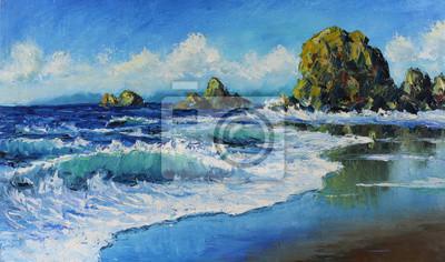Пейзаж современный морской Морской пейзаж, волны, скалы, облака, картина масломПейзаж современный морской<br>Репродукция на холсте или бумаге. Любого нужного вам размера. В раме или без. Подвес в комплекте. Трехслойная надежная упаковка. Доставим в любую точку России. Вам осталось только повесить картину на стену!<br>