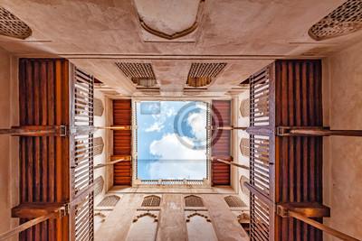 Постер-картина На потолок Замок джарбине в AD Дахилия, Оман. Он расположен примерно в 50 км к юго-западу от Низвы. Он был построен в 1671 году.На потолок<br>Постер на холсте или бумаге. Любого нужного вам размера. В раме или без. Подвес в комплекте. Трехслойная надежная упаковка. Доставим в любую точку России. Вам осталось только повесить картину на стену!<br>