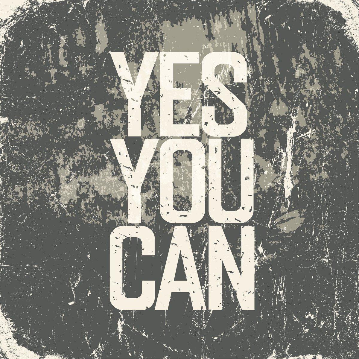 Постер-картина Мотивационный плакат Мотивационный плакат с надписью да можно. Гранж стильМотивационный плакат<br>Постер на холсте или бумаге. Любого нужного вам размера. В раме или без. Подвес в комплекте. Трехслойная надежная упаковка. Доставим в любую точку России. Вам осталось только повесить картину на стену!<br>