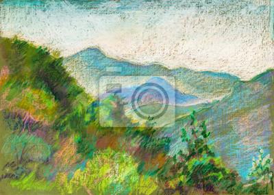 Средиземноморье, современный пейзаж Горы в Эрге, ГрузияСредиземноморье, современный пейзаж<br>Репродукция на холсте или бумаге. Любого нужного вам размера. В раме или без. Подвес в комплекте. Трехслойная надежная упаковка. Доставим в любую точку России. Вам осталось только повесить картину на стену!<br>
