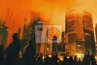 Пейзаж современный городской Живопись людей в городском парке ночью,иллюстрацииПейзаж современный городской<br>Репродукция на холсте или бумаге. Любого нужного вам размера. В раме или без. Подвес в комплекте. Трехслойная надежная упаковка. Доставим в любую точку России. Вам осталось только повесить картину на стену!<br>