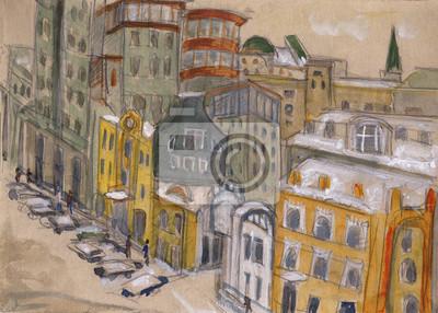 Пейзаж современный городской Улицы МосквыПейзаж современный городской<br>Репродукция на холсте или бумаге. Любого нужного вам размера. В раме или без. Подвес в комплекте. Трехслойная надежная упаковка. Доставим в любую точку России. Вам осталось только повесить картину на стену!<br>