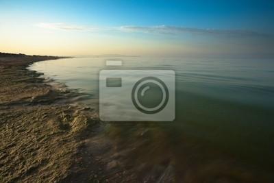 Постер Анапа Восход солнца на море с песчаным пляжем. Черное Море, РоссияАнапа<br>Постер на холсте или бумаге. Любого нужного вам размера. В раме или без. Подвес в комплекте. Трехслойная надежная упаковка. Доставим в любую точку России. Вам осталось только повесить картину на стену!<br>