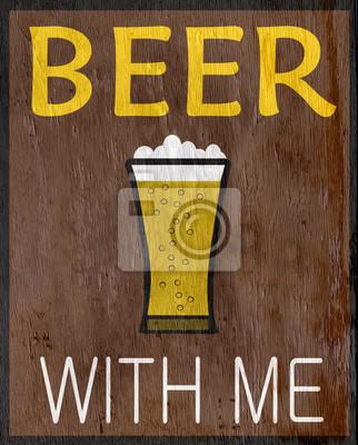 Постер-картина Смешные таблички Забавный знак пива на текстуру древесины зернаСмешные таблички<br>Постер на холсте или бумаге. Любого нужного вам размера. В раме или без. Подвес в комплекте. Трехслойная надежная упаковка. Доставим в любую точку России. Вам осталось только повесить картину на стену!<br>