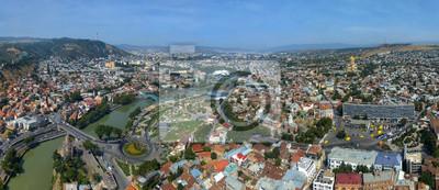 Постер Тбилиси Aerial view of TbilisiТбилиси<br>Постер на холсте или бумаге. Любого нужного вам размера. В раме или без. Подвес в комплекте. Трехслойная надежная упаковка. Доставим в любую точку России. Вам осталось только повесить картину на стену!<br>