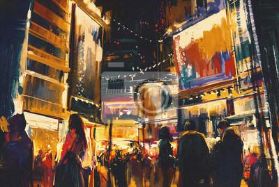 Пейзаж современный городской Красочный ночной город,цифровая живописьПейзаж современный городской<br>Репродукция на холсте или бумаге. Любого нужного вам размера. В раме или без. Подвес в комплекте. Трехслойная надежная упаковка. Доставим в любую точку России. Вам осталось только повесить картину на стену!<br>