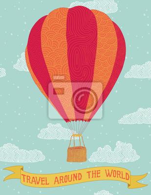 Постер-картина Воздушные шары Путешествуйте по всему мируВоздушные шары<br>Постер на холсте или бумаге. Любого нужного вам размера. В раме или без. Подвес в комплекте. Трехслойная надежная упаковка. Доставим в любую точку России. Вам осталось только повесить картину на стену!<br>