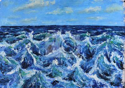 Пейзаж современный морской Морской пейзаж, морские волны, голубое небо, облака, картина масломПейзаж современный морской<br>Репродукция на холсте или бумаге. Любого нужного вам размера. В раме или без. Подвес в комплекте. Трехслойная надежная упаковка. Доставим в любую точку России. Вам осталось только повесить картину на стену!<br>