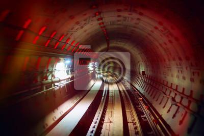 Постер-картина Метро Подземный Железнодорожный тоннель с разноцветными огонькамиМетро<br>Постер на холсте или бумаге. Любого нужного вам размера. В раме или без. Подвес в комплекте. Трехслойная надежная упаковка. Доставим в любую точку России. Вам осталось только повесить картину на стену!<br>