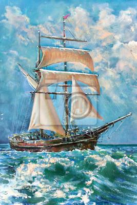 Пейзаж современный морской Чертеж лодок под парусом, картинаПейзаж современный морской<br>Репродукция на холсте или бумаге. Любого нужного вам размера. В раме или без. Подвес в комплекте. Трехслойная надежная упаковка. Доставим в любую точку России. Вам осталось только повесить картину на стену!<br>