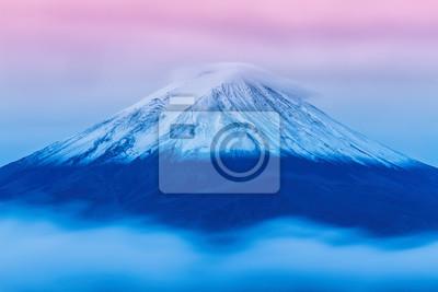 Постер Гора Фудзияма Гора Фудзи погрузилась в облака от озера Кавагути, Яманаси,Гора Фудзияма<br>Постер на холсте или бумаге. Любого нужного вам размера. В раме или без. Подвес в комплекте. Трехслойная надежная упаковка. Доставим в любую точку России. Вам осталось только повесить картину на стену!<br>