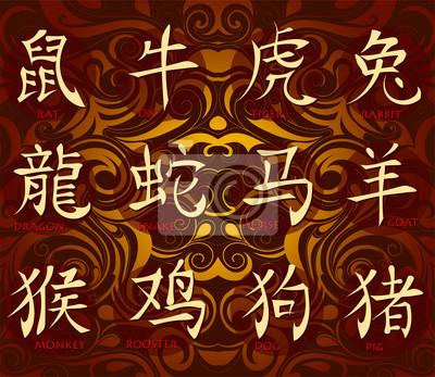 Постер-картина Иероглифы Китайский гороскоп иероглифыИероглифы<br>Постер на холсте или бумаге. Любого нужного вам размера. В раме или без. Подвес в комплекте. Трехслойная надежная упаковка. Доставим в любую точку России. Вам осталось только повесить картину на стену!<br>