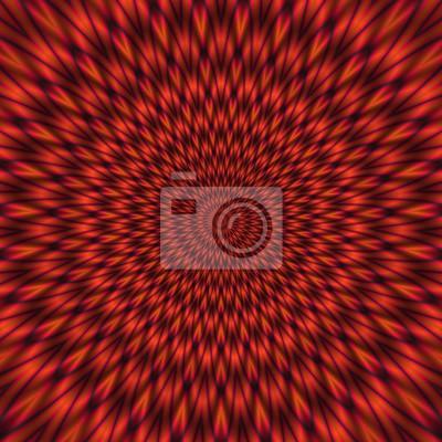 Постер-картина Оптическое искусство Красный абстрактный иллюстрация гипнотического светлый тоннельОптическое искусство<br>Постер на холсте или бумаге. Любого нужного вам размера. В раме или без. Подвес в комплекте. Трехслойная надежная упаковка. Доставим в любую точку России. Вам осталось только повесить картину на стену!<br>