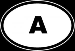 На автомобиль Наклейка «A - Австрия»Автомобильные<br><br>
