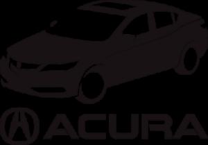 На автомобиль Наклейка «Acura Car»Acura<br><br>