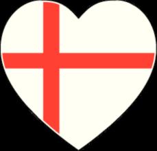 На автомобиль Наклейка «Англия сердце»Страны и путешествия<br><br>
