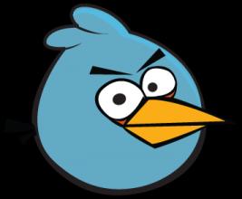 На автомобиль Наклейка «Angry Birds Blue»Angry Birds<br><br>