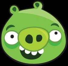 На автомобиль Наклейка «Angry Birds Pig »Angry Birds<br><br>