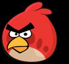 На автомобиль Наклейка «Angry Birds Red»Angry Birds<br><br>