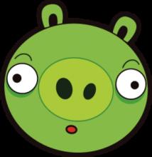 На автомобиль Наклейка «Angry Birds Свинья»Angry Birds<br><br>