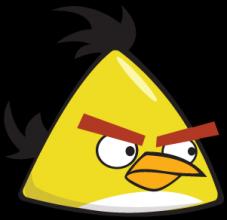 На автомобиль Наклейка «Angry Birds Yellow»Angry Birds<br><br>