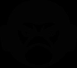 На автомобиль Наклейка «Angry Gorilla»JDM<br><br>