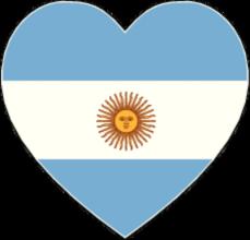 На автомобиль Наклейка «Аргентина сердце»Страны и путешествия<br><br>