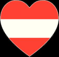 На автомобиль Наклейка «Австрия сердце»Страны и путешествия<br><br>