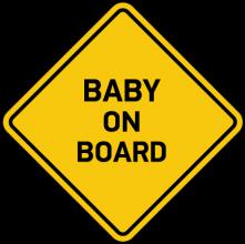На автомобиль Наклейка «Baby on board»Разные<br><br>