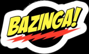 На автомобиль Наклейка «Bazinga»Разные<br><br>