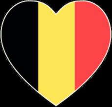На автомобиль Наклейка «Бельгия сердце»Страны и путешествия<br><br>