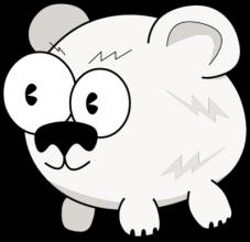 На автомобиль Наклейка «Белый медведь глазастый»Глазастые<br><br>