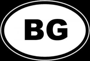 На автомобиль Наклейка «BG - Болгария»Автомобильные<br><br>