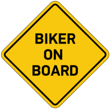 На автомобиль Наклейка «Biker on Board»Мотоциклист за рулём<br><br>