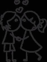 На автомобиль Наклейка «Целующиеся пара»День Святого Валентина<br><br>